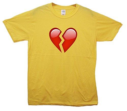 Broken Heart Emoji T-Shirt Gelb