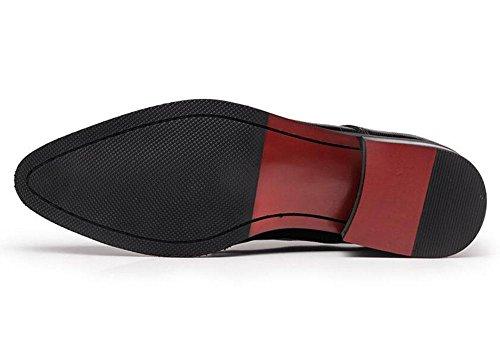 SHIXR Männer Oxford Brogue New Business Spitz Leder Schuhe Anzüge Leder Herren Schuhe British Hair Stylist Schuhe Trend Schuhe Black