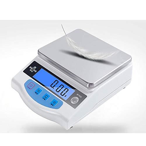 WCX 2000g/0.01g Bilancia Contapezzi Professionale Industriale LCD Per Laboratorio, Industria, Oro, (colore : Bianca, dimensioni : 2000g/0.01g)
