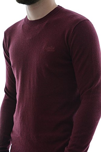 Superdry Herren Pullover Orange Label Crew Rot
