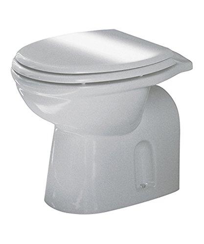 Sanitari bagno vaso wc water a terra, coprivaso in legno mdf, Karla Rak