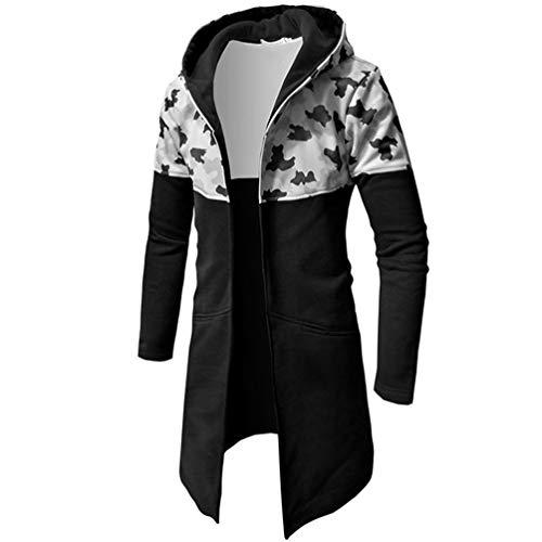 bst Winter Mantel Mit Reißverschluss Beiläufig Warm Tarnung Lange Ärmel Oberteile Bluse Jacke Armeegrün Kapuzenpullover Hoodie ()