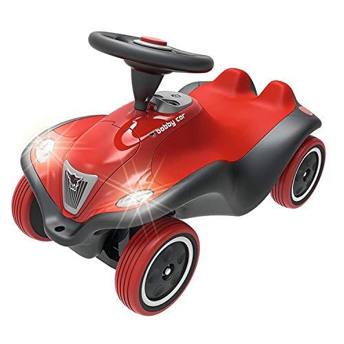 BIG-Bobby-Car Next - Deluxe Variante, Kinderfahrzeug mit LED-Front Scheinwerfer, Flüsterreifen und weichem Sitz…