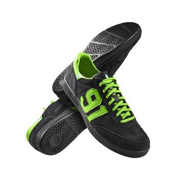 Salming Nonante Gardien De But Chaussures De Handball Homme - noir / vert fluorescent, 11.0 US - 45.1/3 EU