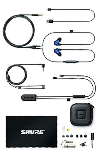 Shure SE846 Bluetooth 5.0 In Ear Kopfhörer mit Sound Isolating Technologie und Mikrofon für iPhone, iPad & Android - Premium Kabellos Ohrhörer mit warmem & detailreichem Klang - Blau - 3