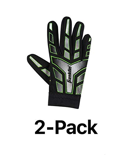 low priced 6a077 78304 Franklin Sports Youth-Junior Receiver-Receiving Football Gloves-Large  (2-Pack