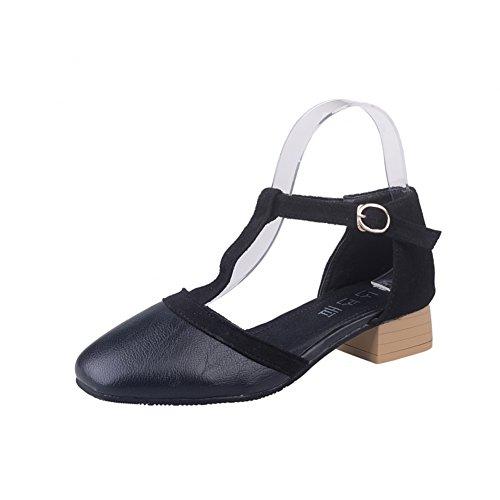 Baotou/sandales talons chunky/chaussures de dames élégantes au printemps B