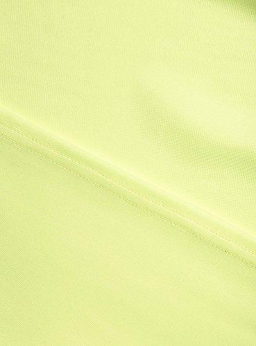 oodji Collection Damen Tailliertes Jersey-Kleid Gelb (6700N)