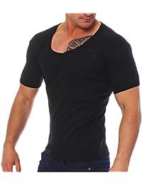 Young rich & v-aufschnitt homme deep t-shirt à col en v t-shirt à col v profond -  Noir - XL