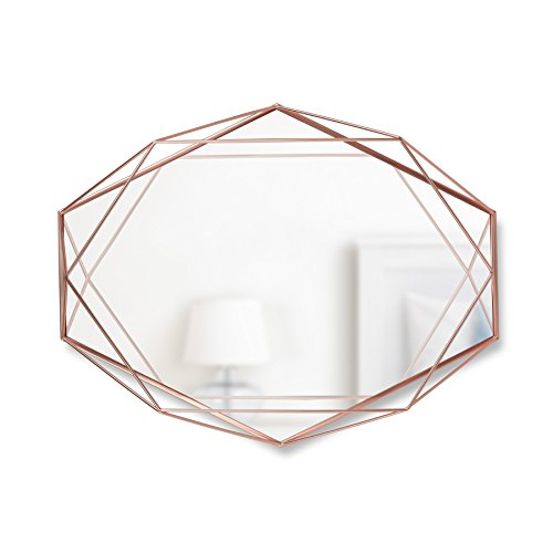 Umbra 358776-880 Prisma Wand-/Designspiegel mit stylischem Metallgehäuse, kupfer