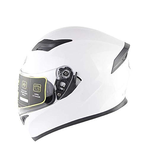 LILINSS Motorradhelm - Komfortable und langlebige Doppel-Sonnenblende Full Face Racing Motorradhelm - Geeignet für Erwachsene Männer und Frauen,XXL