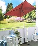 qm oder baubleich Knaller: Sonnenschirm rechteckig 210x140 Garten Balkonschirm UV-Schutz ~cf308 (Bordeaux)