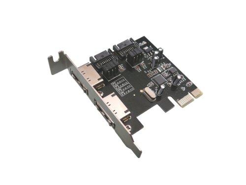 Kalea Informatique PCI-Express-Karte (2 Ports SATA 3, intern oder extern, unabhängige Anschlüsse, Chipsatz ASM1061) - Esata-karte