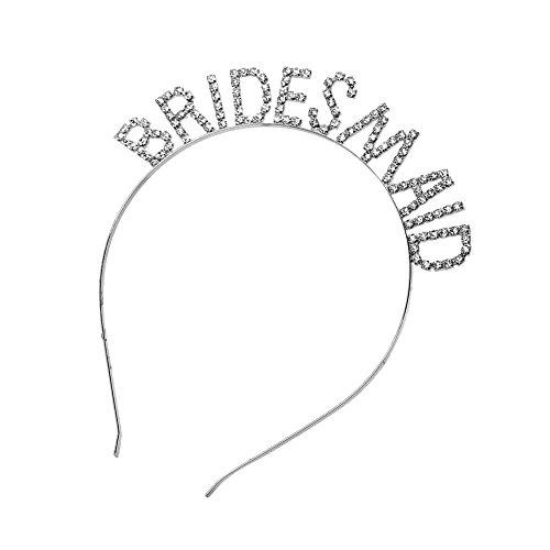 Hochzeit Metalllegierung Stirnband Glitter Strass aushöhlen Buchstaben Brautjungfer Brautdusche Tiara Crown Bachelorette Party gefallen