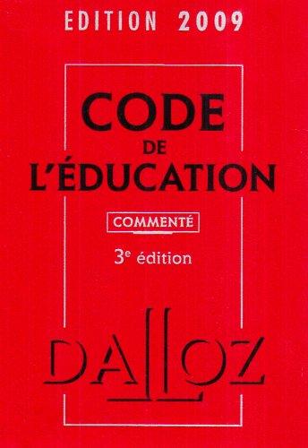 Code de l'Education commenté