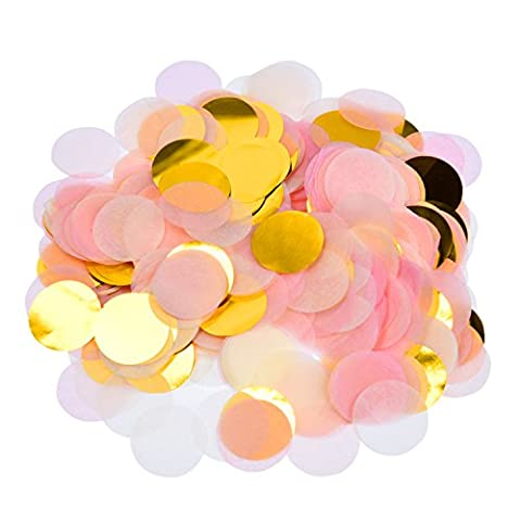 eBoot 5000 Pieces Paper Confetti 1 Inch Round Tissue Paper Table Confetti Dots for Wedding Party Decorations, Mixed Colors