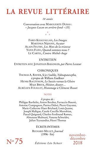 REVUE LITTÉRAIRE N°75 (EDITIONS LEO SC)