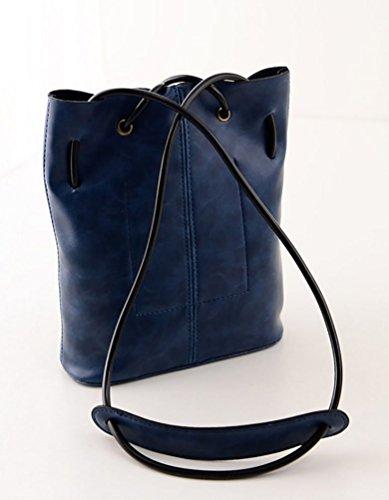 Signore Baymate Ha Semplicemente Stampato Lettere Riutilizzabili Shopping Bag Blu
