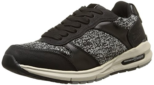 Tom Tailor Damen Sneakers Schwarz (Black)
