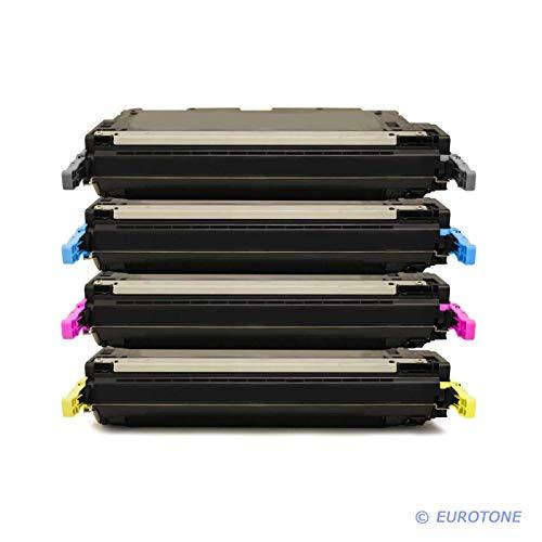 4X Eurotone Remanufactured Toner für HP Color Laserjet 3600 DN N ersetzt Q6470A-73A 502A 501A -