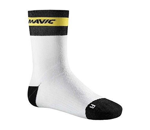 MAVIC Ksyrium Elite Thermo Winter Fahrrad Socken weiß/schwarz 2017: Größe: L (43 46) -