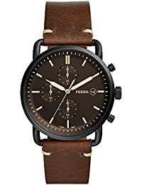 Fossil Herren Analog Quarz Uhr mit Leder Armband FS5403