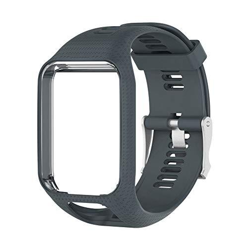 Zerone - Correa de Silicona Suave para Reloj de Pulsera de Actividad física Ajustable para Tomtom Runner Cardio Spark