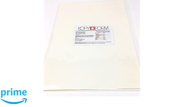 Kopyform Choco Sheets Chocolate Transfer Sheets Blank A4 25 Sheets Tp525