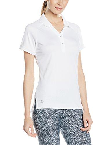 Adidas Essentials Donna Pique Polo camicia a maniche corte, Donna, Essentials Pique, bianco, XS