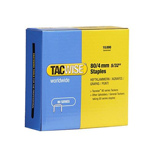 Tacwise 0380 Boîte de 10000 Agrafes galvanisées 4 mm Type 80