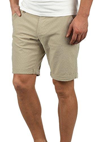 Blend Sergio Herren Chino Shorts Bermuda Kurze Hose Mit Rauten-Muster Aus 100% Baumwolle Regular Fit, Größe:S, Farbe:Sand Brown (75107)