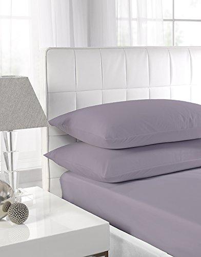 Textiles Direct Easy Care 4ft Spannbetttuch–grau