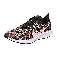 Nike AIR ZM PEGASUS 36 VF (GS), Unisex Kid's Sneaker, BLACK/PINK TINT-PALE IVORY-WHI, 2.5 UK (35 EU)