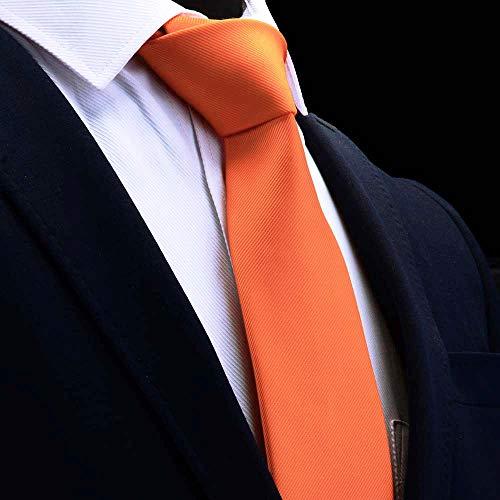 QJWVVLLL Klassische Krawatte für Herren Seidenkrawatte, 8 cm Formale, Goldfarbene, rot-gelbe Krawatten für Herren, Geschäftshochzeitsgeschenkparty-13
