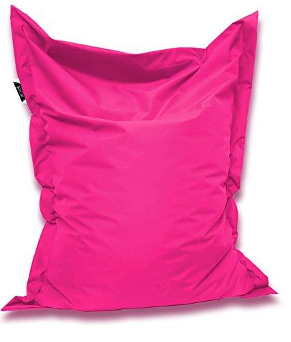 Patchhome Sitzsack und Sitzkissen Eckig - Pink - 180x145cm in 25 Farben und 7 versch. Größen