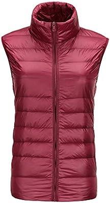 Mujer chaquetas de down chaleco la recta cuello breve párrafo abrigo cremallera mantener caliente