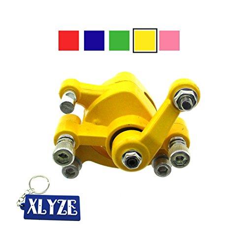 XLYZE Bremssattel Scheibenbremse vorne für 43cc 47cc 49cc Pocket Bike Mini Dirt Bike Elektro Scooter Go Kart gelb