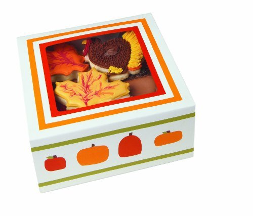 Wilton 415-1208 Halloween Pumpkin Patch Medium Cupcake Box, 4 Cavity by Wilton