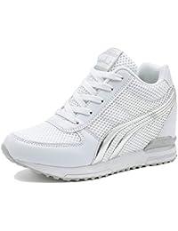 LILY999 Scarpe Donna Sneakers Zeppa Interna Scarpe da Ginnastica Sportive  Fitness Basse Interior Casual all  e474c9ba9d3