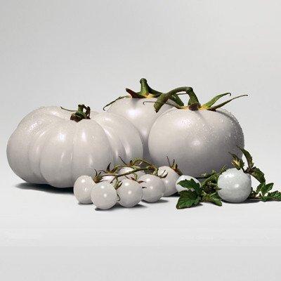 200pcs Seltene weißen Tomatensamen, Nährstoffe Heath Sehr lecke Gemüsesamen, Fleischtomate Samt