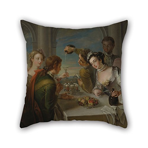 beautifulseason Pillowcover 20 X 20 Inches/50 by 50 cm(Double Sides) Nice Choice for Birthday,Festival,Adults,Bar,Boy Friend,Couch Oil Painting Philippe Mercier - The Sense of Taste (Minion Hockey)