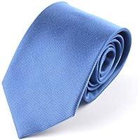 Swallowuk Uomo Classica Cravatta Jacquard Woven uomini cravatta blu Blau