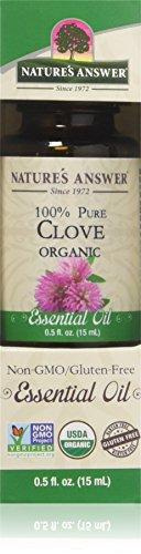 Huile essentielle bio, 100% Clove Pure 0,5 fl oz (15 ml) - Réponse de la Nature