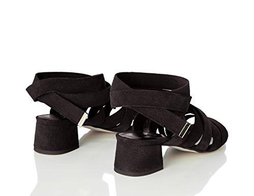 Damen Schwarz Absätzen Riemen Find Mit sandalen black d6Swq8