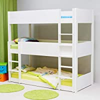 Alfred & Compagnie Triple Bunk Bed 90 x 200 cm Leopold White