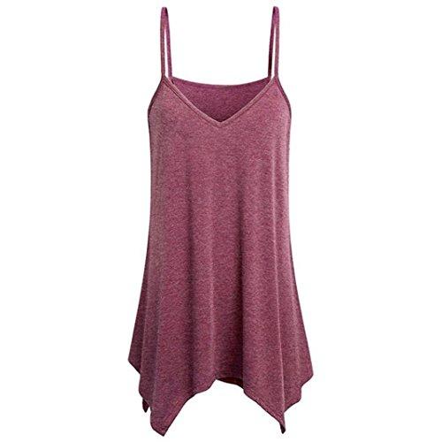 Stretch Kostüm Fußball - KIMODO T Shirt Damen Sommer Blusen Damen Weste Lose V-Ausschnitt Tank Top Große Größe Mode 2019
