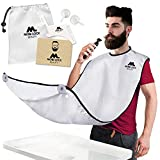 Best Beard Shaving Bib - The Smart Way to Shave - Beard Trimming Apron - Perfect Grooming Gift or Mens Birthday Gift - Includes Free Shaping Comb, Bag, and Grooming E-Book by Mobi Lock