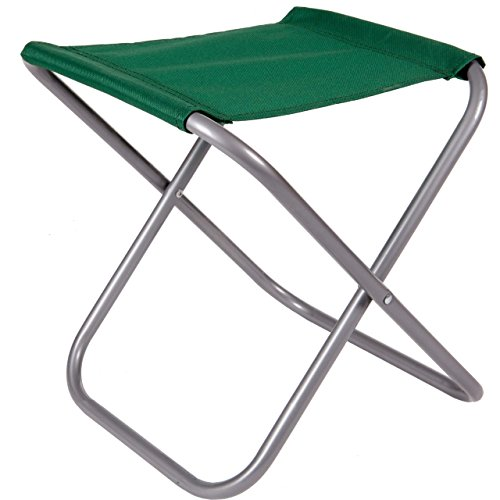 Anaterra Campinghocker, Klapphocker faltbar, stabil und robust, blau/grün/schwarz