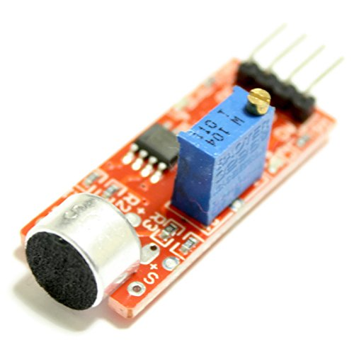 micrófono de módulo de sensor detector de sonido con salida analógica y digital,, por ejemplo, para Arduino, genuino y Atmel AVR