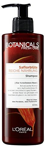 Botanicals Haarshampoo Fresh Care Saflorblüte Reiche Nährung, Shampoo für trockenes Haar, Haarpflege ohne Silikon, 1er Pack (1 x 400 ml)